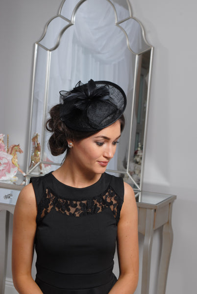 Black Disc Fascinator - LadyVB   s.r.o - 3