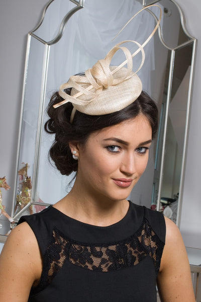Holly cream fascinator m28 - LadyVB   s.r.o - 2