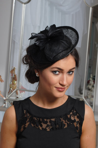 Black Disc Fascinator - LadyVB   s.r.o - 2