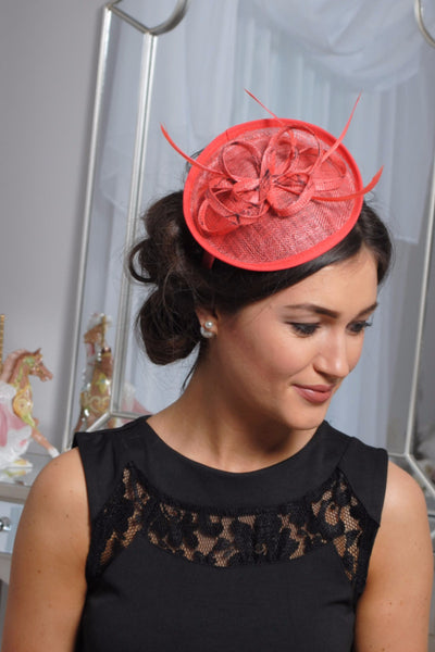 Coral and black fascinator - LadyVB   s.r.o - 2