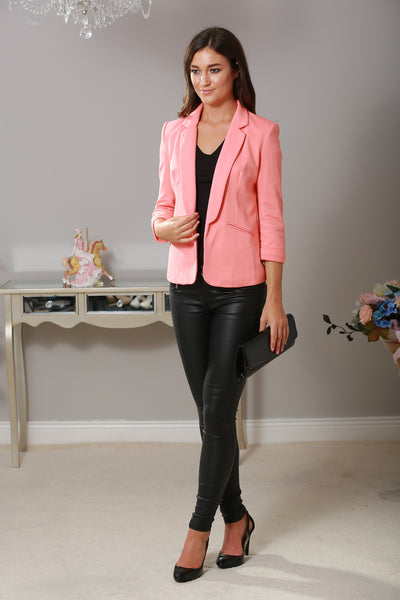 Coral Mandy Tailored Blazer - LadyVB   s.r.o - 1