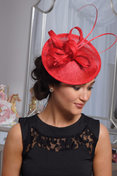 Jenna Red Fascinator - LadyVB   s.r.o - 2