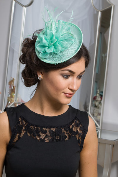 Mint Green Fascinator - LadyVB   s.r.o - 1