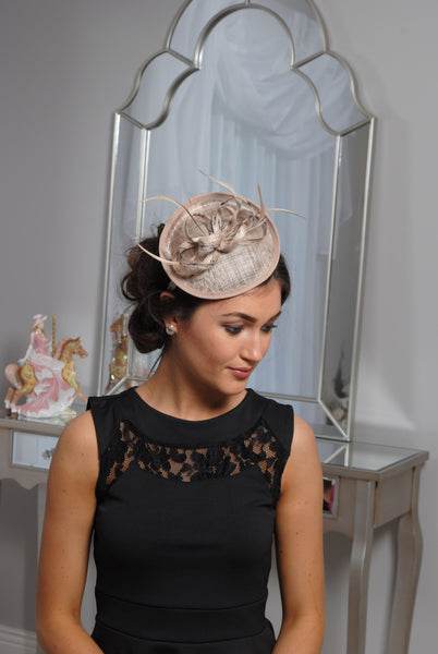 Beige/Nude and Black Fascinator - LadyVB   s.r.o - 2