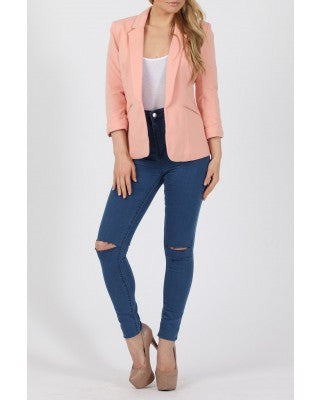Peachy Nude Mandy Tailored Blazer - LadyVB   s.r.o - 1