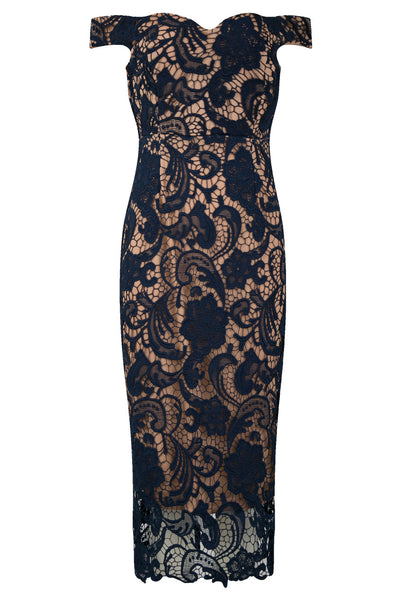 Zoe Navy Lace Dress - LadyVB   s.r.o - 2