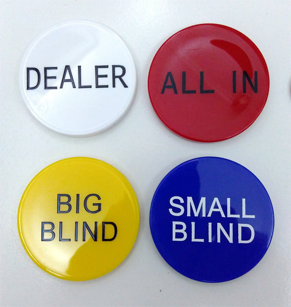 Dealer, Big Small Blind & All In Buttons Set (5cm)