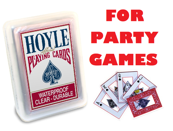 HOYLE Waterproof Party Playing Cards (Regular Index)