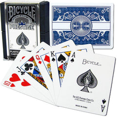 BICYCLE Prestige 100% Plastic Cards Single Deck (REGULAR Index)