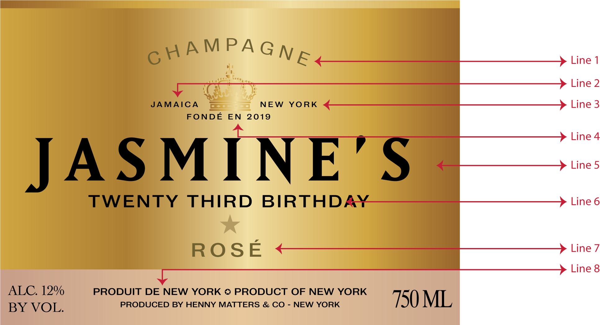 Custom Moet & Chandon Label - Henny Matters