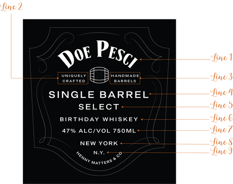 Custom Single Barrel Jack Daniels Label