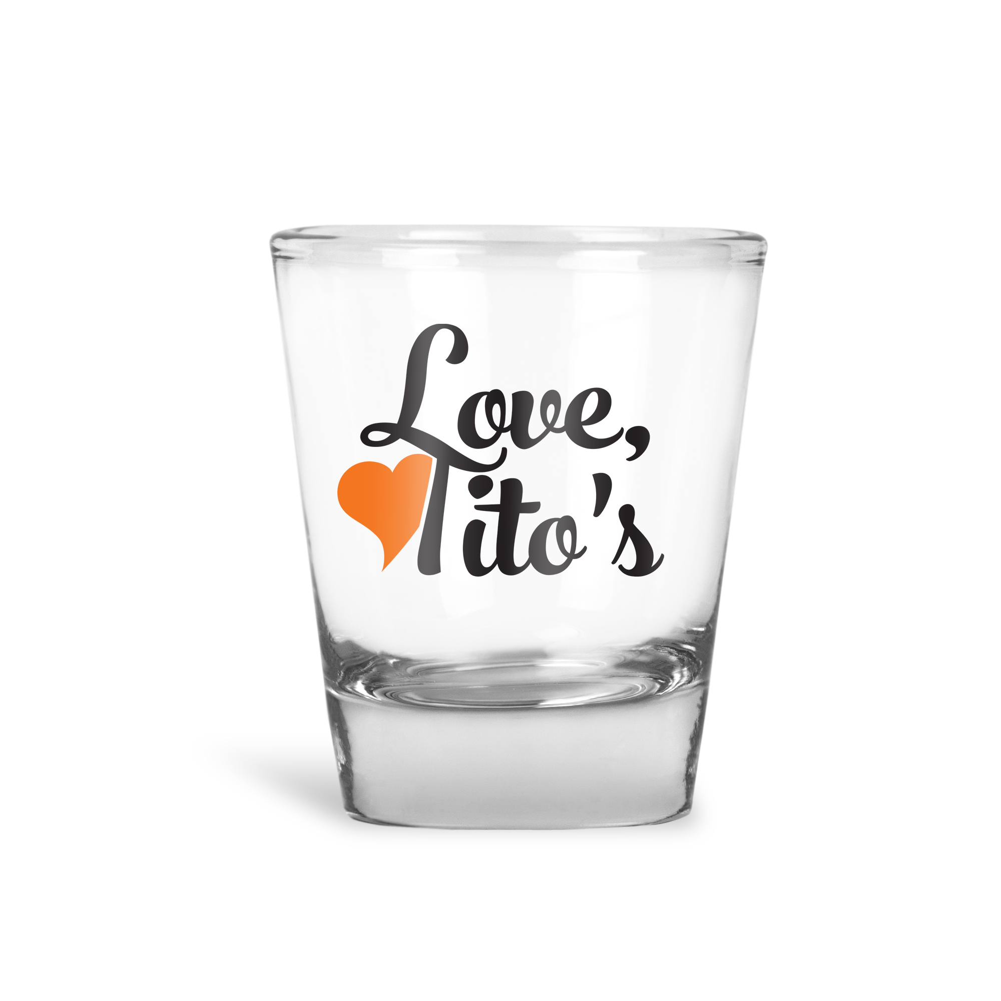 Love Tito's Shot Glass - Henny Matters
