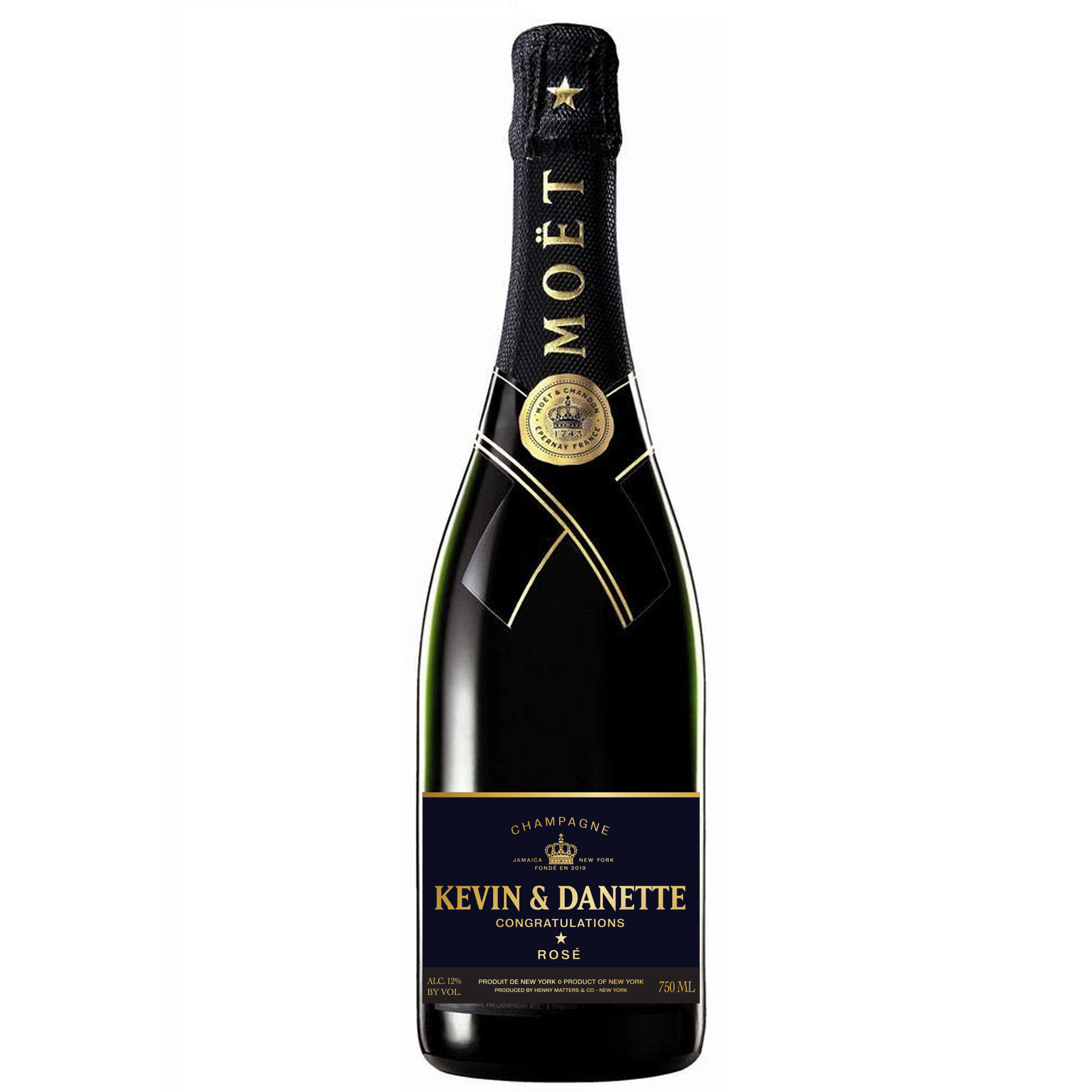 Custom Moet & Chandon Nectar Imperial Label - Henny Matters