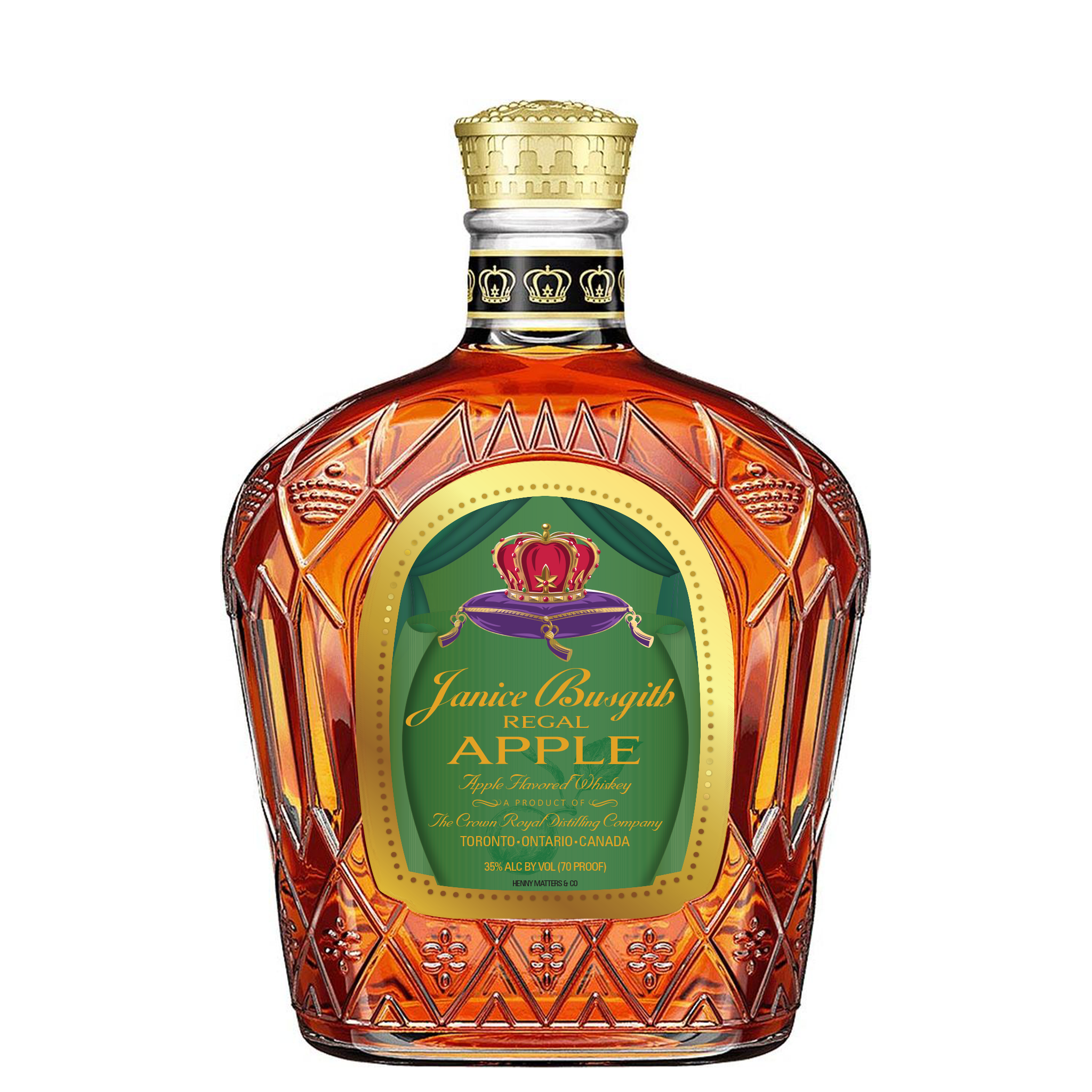 Custom Crown Royal Apple Label - Henny Matters