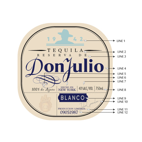 Custom Don Julio Label