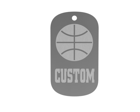 Championship Dog Tag - Basketball