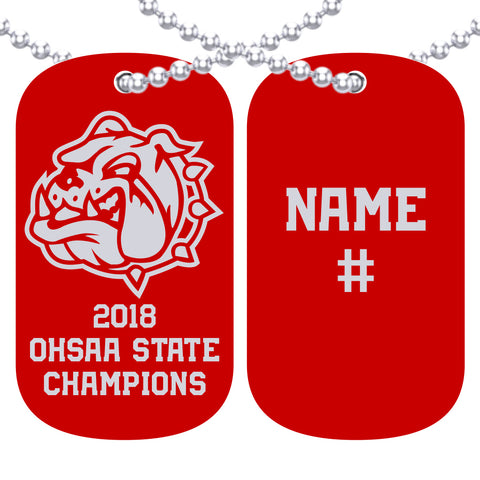 Bedford Bulldogs Dog Tag