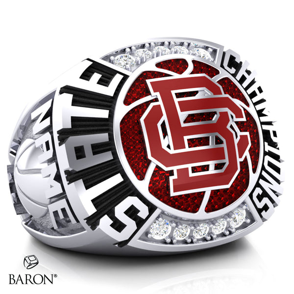 Butte Central Catholic Maroons Championship Ring - Design 2.2
