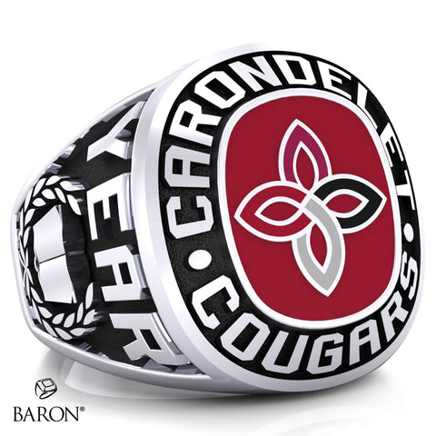 Carondelet Cougars Exclusive Class Ring (Durilium/Silver/10Kt White Gold) - Design 1.1