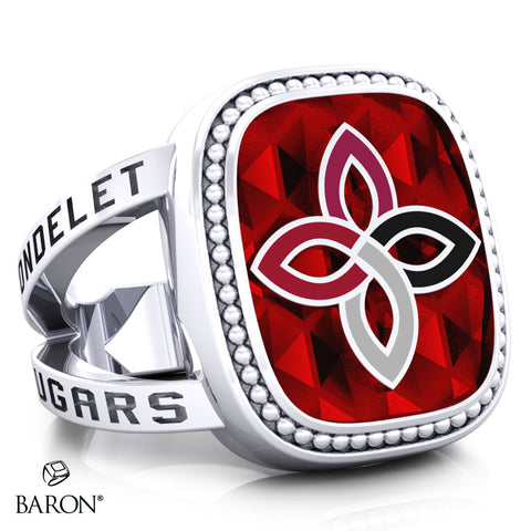 Carondelet Cougars Renown Class Ring (Durlium, Sterling Silver, 10kt White Gold) - Design 5.1