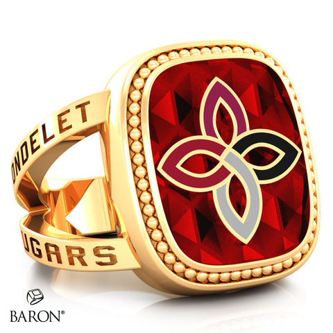 Carondelet Cougars Renown Class Ring (Gold Durlium, 10kt Yellow Gold) - Design 5.2