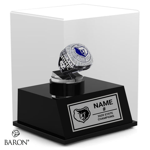Central Valley Bears Championship Display Case