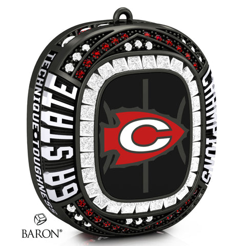 Clinton Boys Basketball Championship Ring Top Pendant - Design 5.4