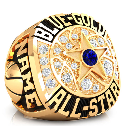 DIBCA - Team Blue Ring - Design 1.5 (Gold Durilium)