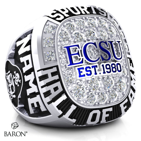 ECSU Hall Of Fame Ring - D.2.3 - (10k/14k White Gold)