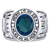 Eckerd College Tritons Senior Ring - Design 6.1 (Durilium/ 6k White Gold / 10k White Gold)