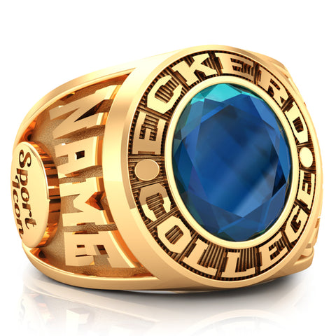 Eckerd College Tritons Senior Ring - Design 6.2 (Gold Durilium / 6k Yellow Gold / 10k Gold Durilium)