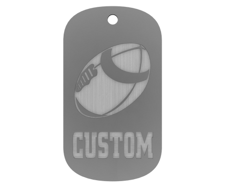 Championship Dog Tag - Football