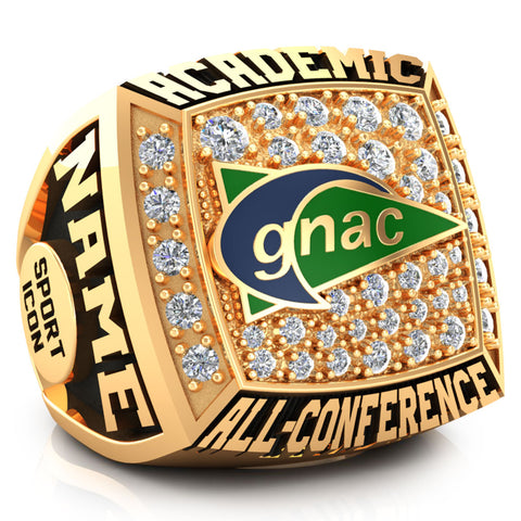 GNAC Academic All-Conference Ring (Gold Durilium)