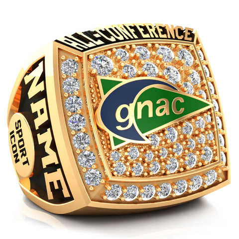 GNAC  All-Conference Ring - Design 2.3 (Gold Durilium)