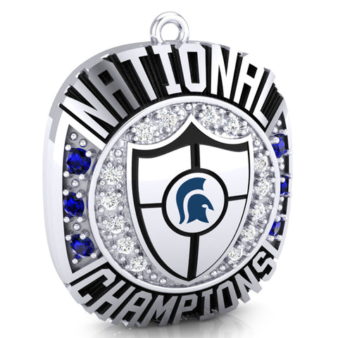 Hempfield Area Competitive Cheer Championship Ring Top Pendant - Design 4.18