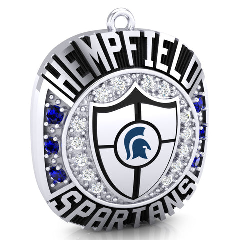 Hempfield Area Competitive Cheer Championship Ring Top Pendant - Design 4.20