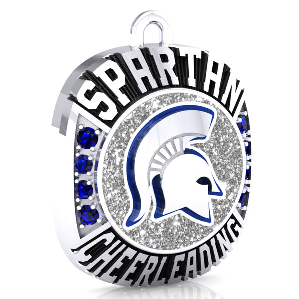 Hempfield Area Competitive Cheer Ring Top Pendant - Design 2.10