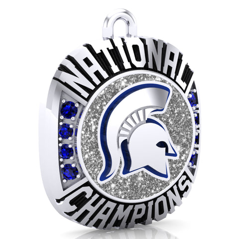 Hempfield Area Competitive Cheer Ring Top Pendant - Design 2.11