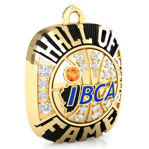 IBCA-Illinois - Hall of Fame Ring Top Pendant - (Gold Durilium)