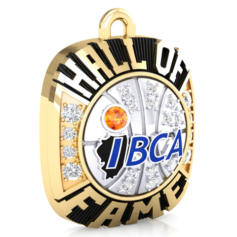 IBCA-Illinois - Hall of Fame Ring Top Pendant - (Two-Tone)