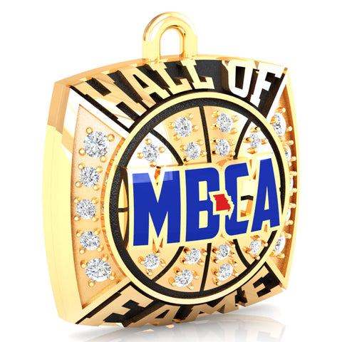 MBCA - Missouri - Hall of Fame Pendant -Design 1.4(Gold Durilium)