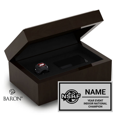 NSAF Indoor National Champion Ring Box