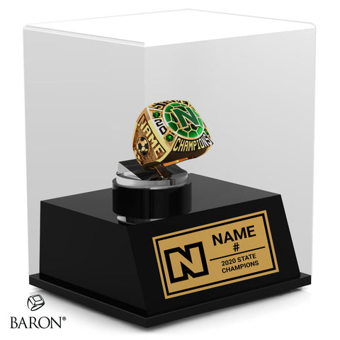 Newman Greenies Championship Display Case