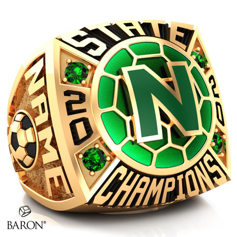 Newman Greenies Championship Ring - Design 1.4