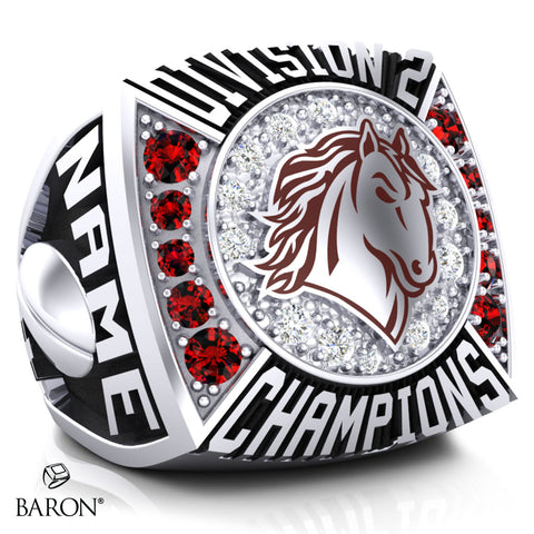 Norco College Mustangs Championship Ring - Design 1.4