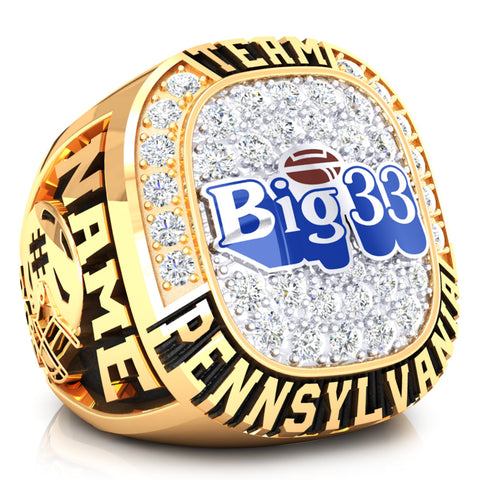 PSFCA - Big 33 Ring - Team Pennsylvania - Design 4.1A - Durilium Two-Tone