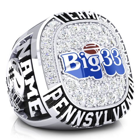 PSFCA - Big 33 Ring - Team Pennsylvania - Design 4.1B - Durilium *DEPOSIT