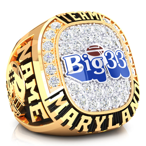 PSFCA - Big 33 Ring - Team Maryland - Design 4.1C- Durilium Two-Tone *DEPOSIT