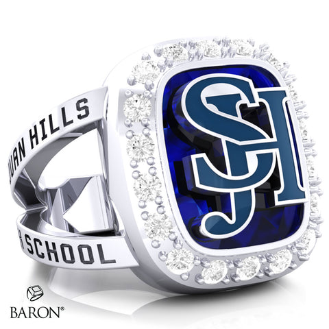 San Juan Hills Renown Class Ring (Durlium, Sterling Silver, 10kt White Gold) - Design 5.1