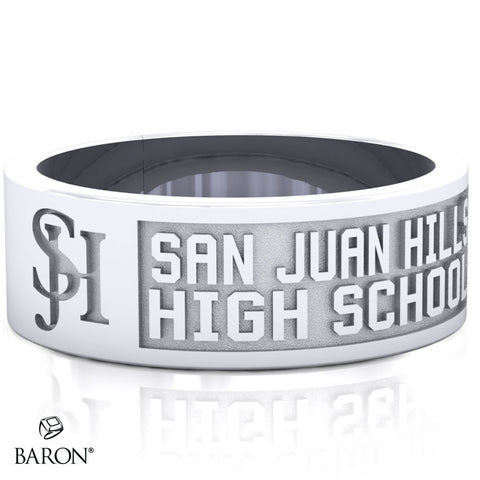 San Juan Hills Class Ring - 3111 (Durilium, Sterling Silver, 10KT White Gold) - Design 9.1